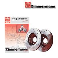 Zimmermann přední sportovní brzdové kotouče -vzduchem chlazené MITSUBISHI SPACE WAGON (D0V/W)  -motor 1.8 TD -- rok výroby 06.86-04.91